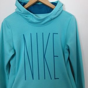 Nike Dri-Fit Women Junior XL Teal Blue Sweatshirt